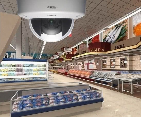 Камера для видеонаблюдения в магазине